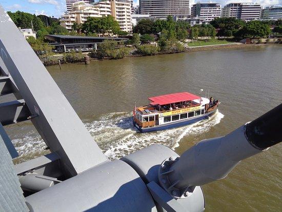 The Brisbane River: MV Neptune from Goodwill Bridge