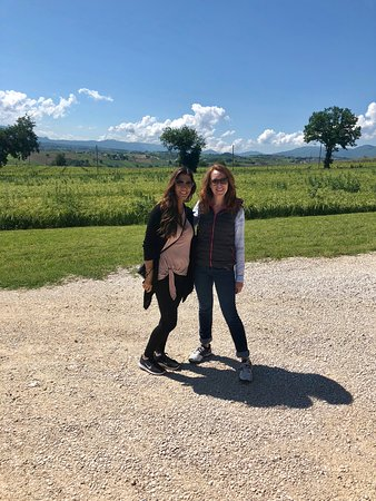 Family Farms of Montefalco: Jennifer and I starting the day