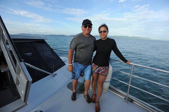 Amazing Koh Hong Krabi Island Trip from Phuket: My wife and I aboard the Blue Anda catamaran to Koh Hong.