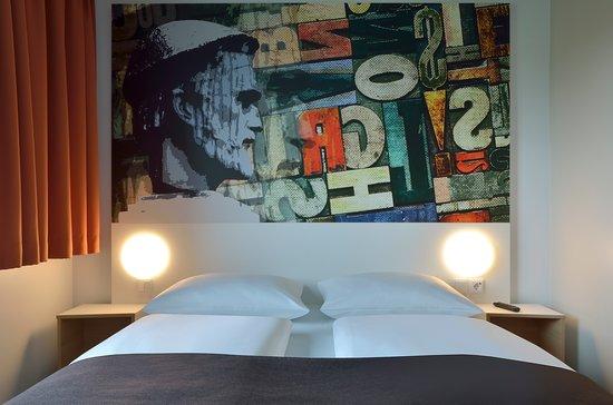 B&B Hotel Mainz-Hechtsheim: Zimmer mit französischem Bett
