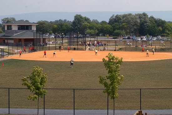 Hagerstown, MD: One of the many fields at Fairgrounds Park