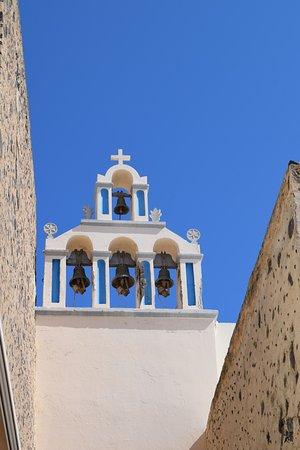 Santorini Blue top houses