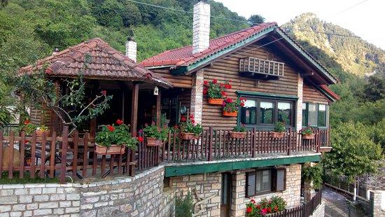 Agrafa, Grécia: Το εστιατόριο.