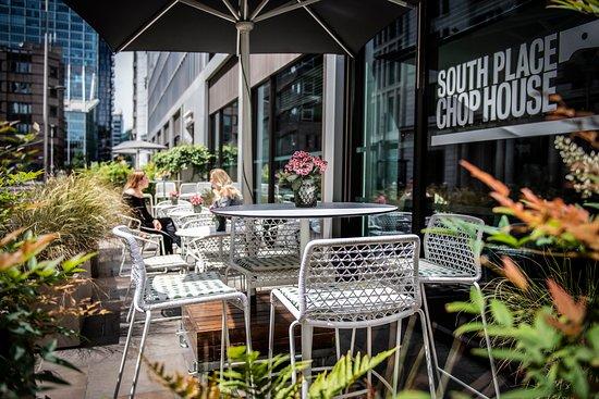 South Place Hotel: Chop House terrace