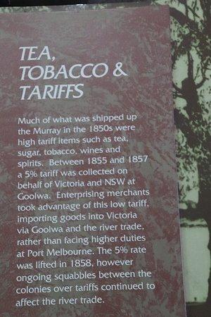 Encounter Coast Discovery Centre: Tea, Tobacco and Tariffs