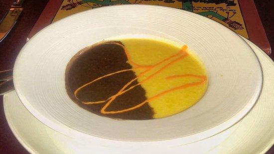 La Posada Hotel: Appetizer-black bean and corn soup