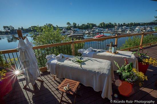 Saint Marc sur Richelieu, Canada: Traitments thérapeutiques extérieurs - Outdoors treatments