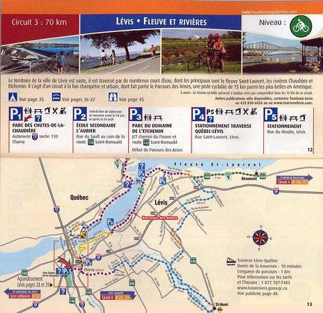 Levis, Canadá: Liste des parcours de vélo à Lévis. Le Vélo Vert se situe au centre et à la croisée de ces parco