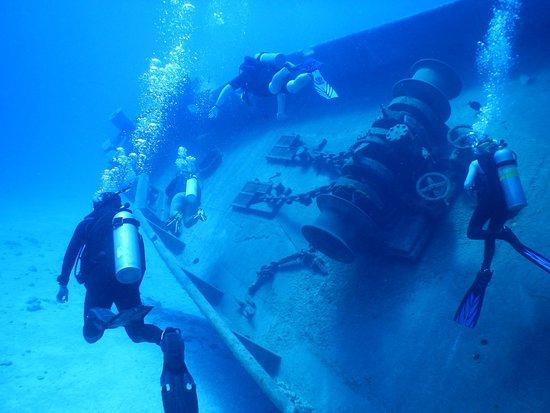 Kittiwake Shipwreck & Artificial Reef: Top side after swimming through