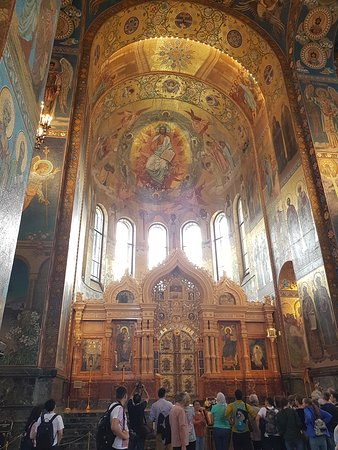 Church of the Savior on Spilled Blood: Interno