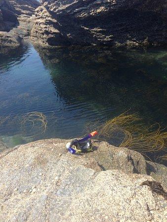 Perranuthnoe, UK: Waiting to snorkel