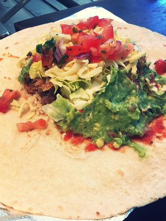 Bounceback Cafe: One of the most delicious burrito's in town !