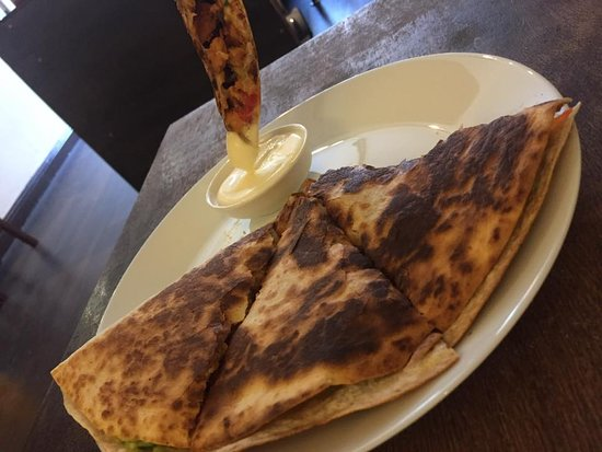 Bounceback Cafe: Quesadilla (meat or vegetarian option available)