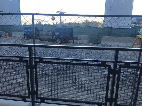 Grand Colorado On Peak 8: Construction zone outside our patio