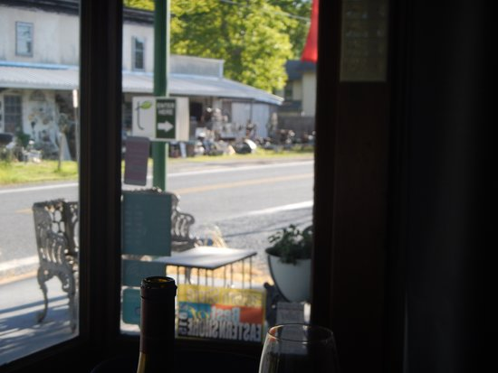 t at the General Store: front tables view