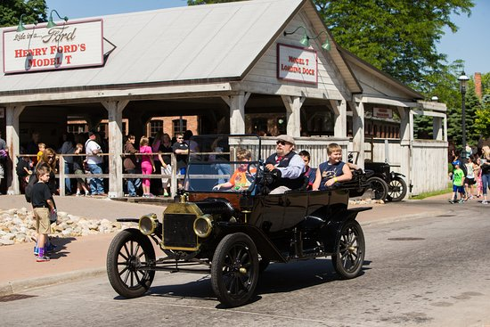 Dearborn, MI: ride a model T in Greenfield Village
