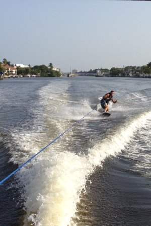 Gulfstream Boat Club: Jesse Wakeboarding just North of GB blvd
