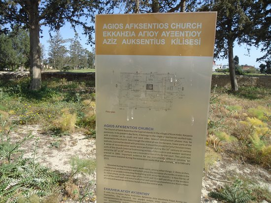 Buyukkonuk, Chypre : The plan and the explanations about Agios Afksentios Chirch