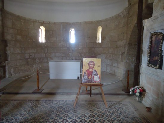 Buyukkonuk, Chypre : The place of the altar in Agios Afksentios Chirch