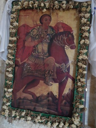 Buyukkonuk, Cyprus: An ancient icon with St George