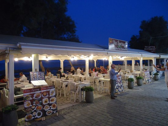 The evening at the Spring Restaurant
