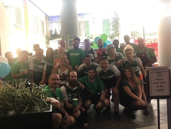 Ready For Macmilans Bike Ride At Pizza Express Trafford