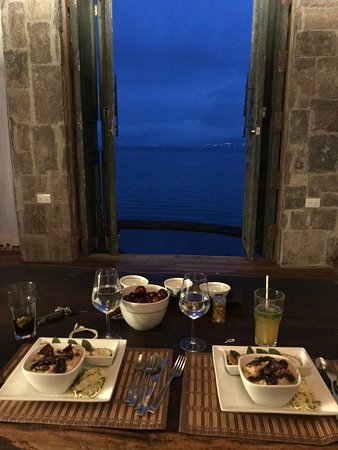 La Fortuna at Atitlan: Dinner in our room was cozy, romantic and delicious.