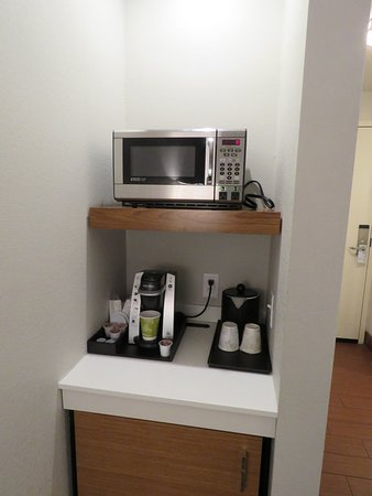 Microwave Coffee Station Small Fridge Picture Of Hilton
