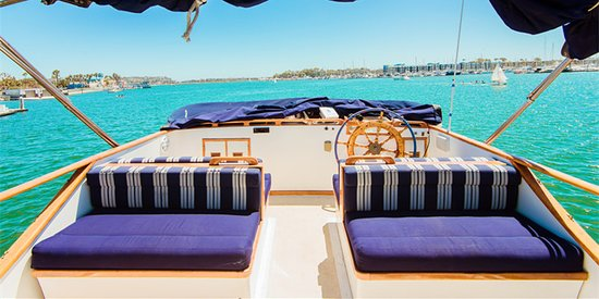 The Blue Moon: Flybridge with the best view