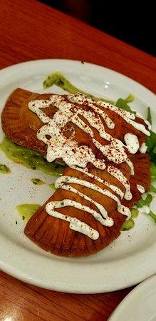 Sunny Point Cafe: Black Bean & Sweet Potato Empanada