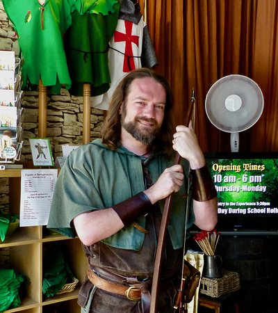 The Robin Hood Experience: Robin is ready to greet you.