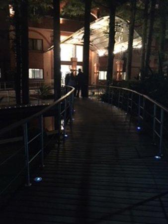 Master Gramado: Ponte chegando na entrada do Hotel.
