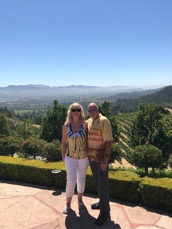 Newton Vineyard: John and I on top of the world.