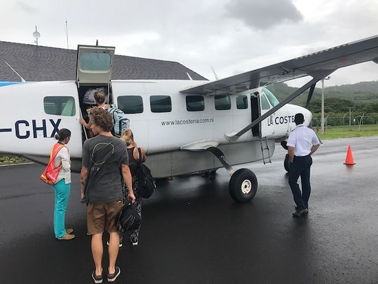 The Surf Sanctuary: Puddle Jumper to and from Managua.