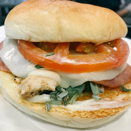 Special: Saltimbocca. Fresh, all natural, antibiotic-free grilled chicken, ham, provolone, tomat