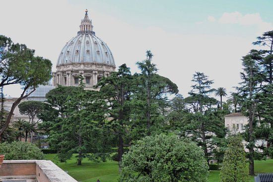 Vatican City: The dome of St Peter's Basilica ...