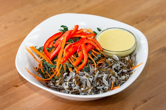 Cafe by Tao: Kale Chiffonade Salad with Wild Rice