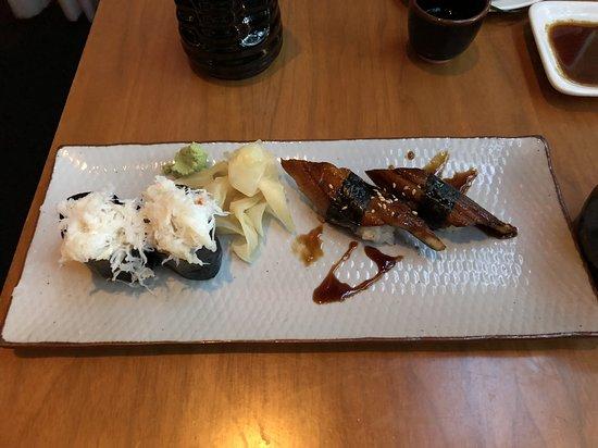 Masu Sushi: Dungeness crab & anago