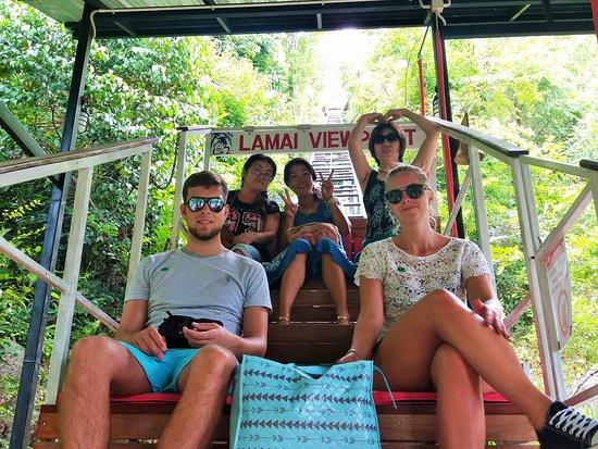 Lamai Viewpoint: Option 2: Less Hike, enjoy Cable Car
