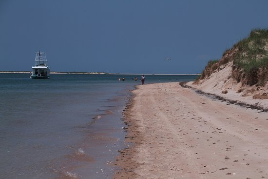 Island Express Ferry Service: small strip of beach on Schackleford Bank