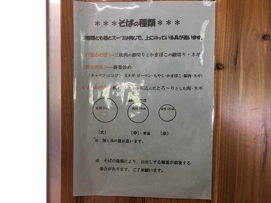 Akaishi Shokudo: 大中小は麺と具の量の違い