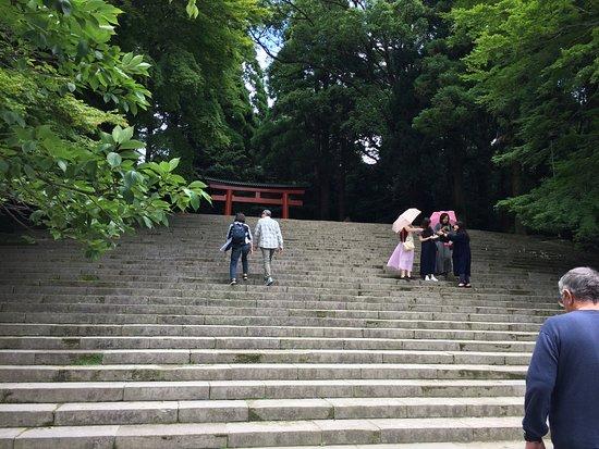 Kirishima Shrine: stairs leading to the shrine