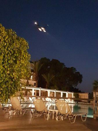 All Senses Ocean Blue Sea Side Resort: Aircraft overhead at night