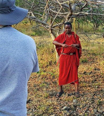 Isoitok Camp - Manyara: Bringing the Maasai story to you during a traditional medicine walk..