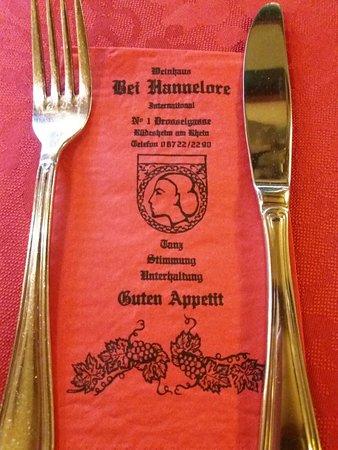 Rudesheim an der Nahe, Germany: Bei Hannelore. Was leuk om mijn naam terug te zien.