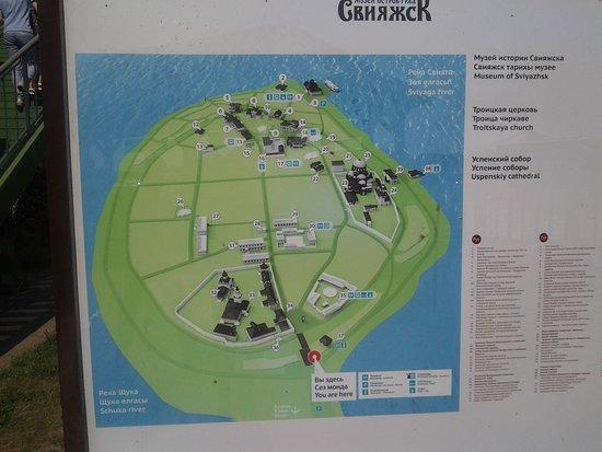 Republic of Tatarstan, Rusia: Схема расположения монастырей на острове