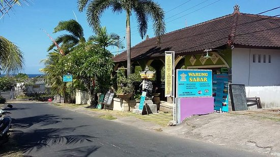 new place warung sabar with good view, great atmosfere and excele ce food