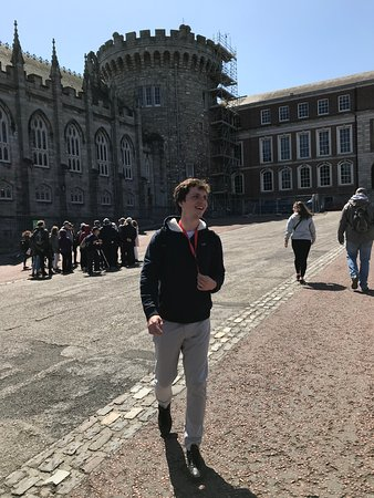 SANDEMANs NEW Europe - Dublin: Hennessey telling us the story and the back story of the castle.