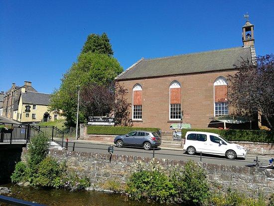 Barony Bistro: location, alyth burn, Barony, next to Losset inn, old church