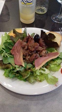 salade magret gésier